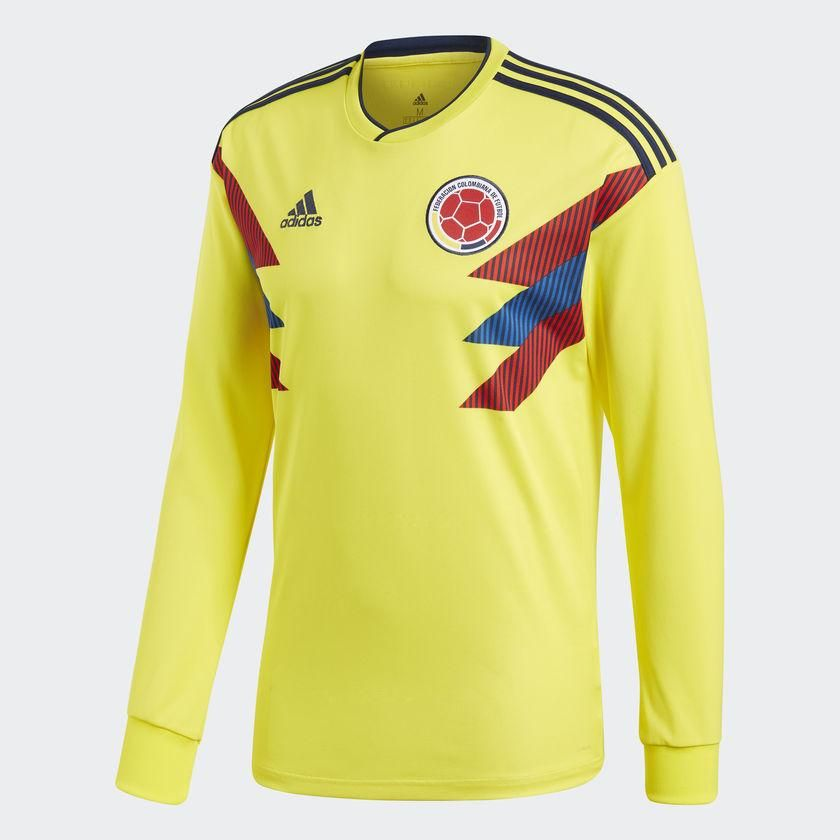 1c60e74b5 Adidas colombia long sleeve home jersey fifa world cup 2018 ...