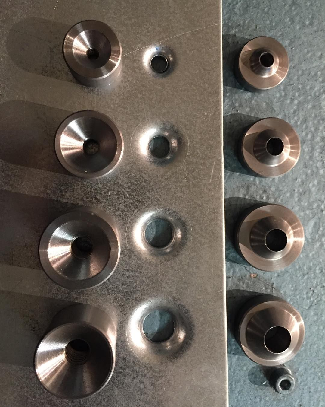 We Ve Got More Flush Recess Dimple Dies In Stock They Come As A Set Of Four Sizes 10 1 4 5 16 3 Sheet Metal Fabrication Metal Fabrication Metal Forming