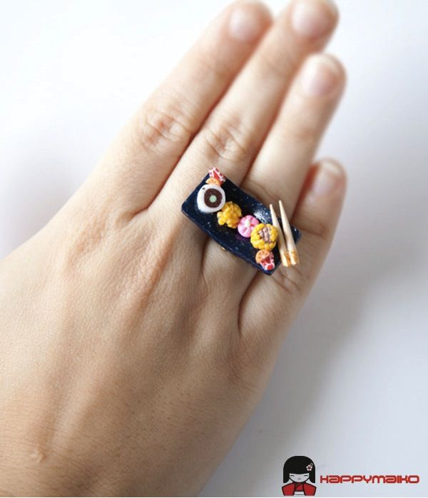 Japanese Food-Inspired Rings Cute Enough To Eat - DesignTAXI.com SUPER CUTE!!