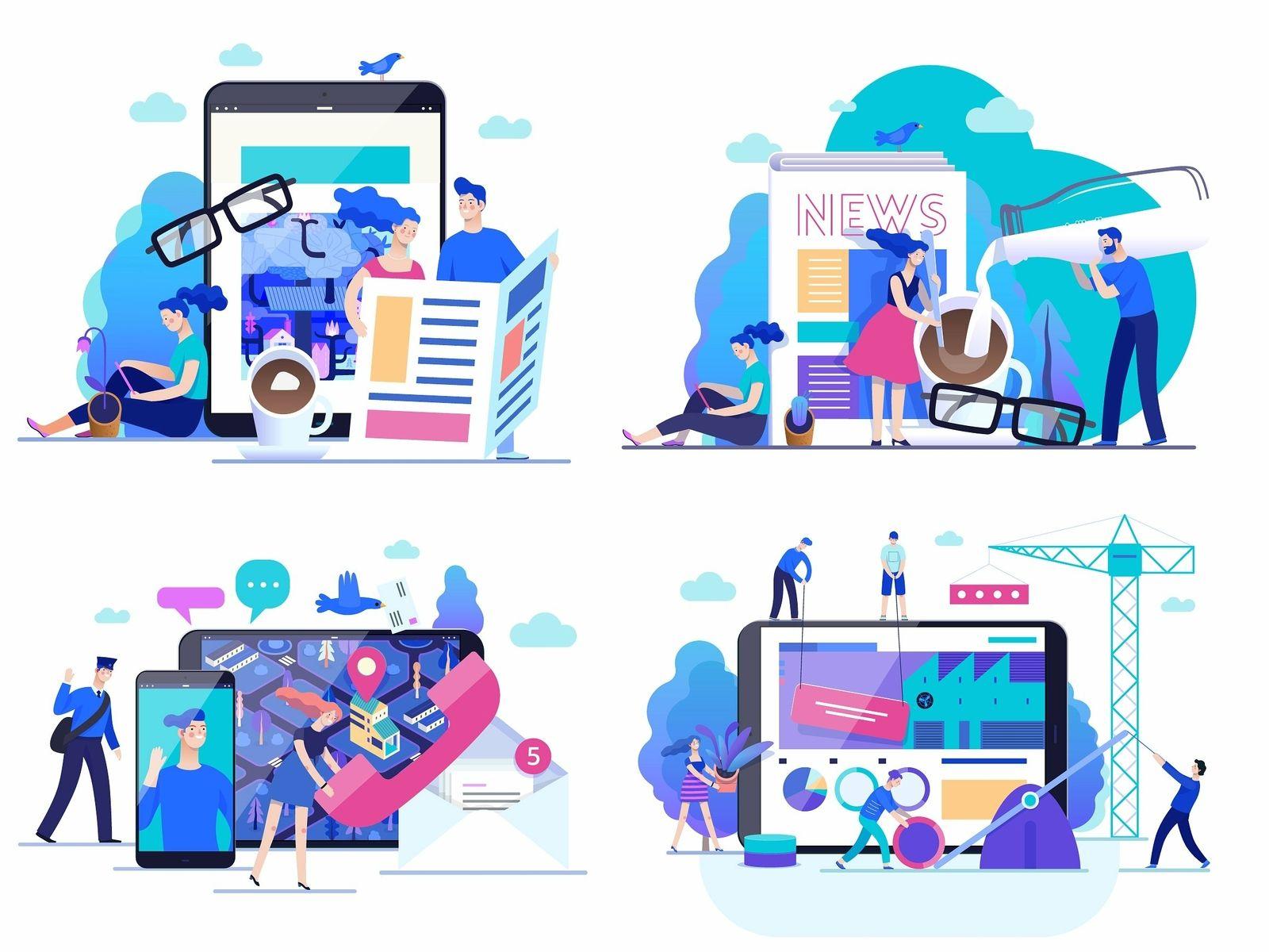 Company Website Vector Illustrations Website Illustration Vector Illustration Vector Illustration Design