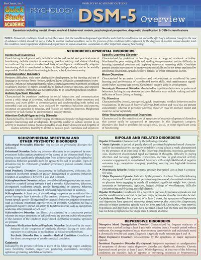DSM 5 OVERVIEW WORK Case Management Mental Health