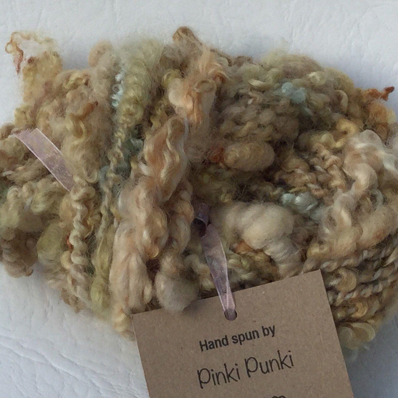 """""""Onion"""" hand spun art yarn"""