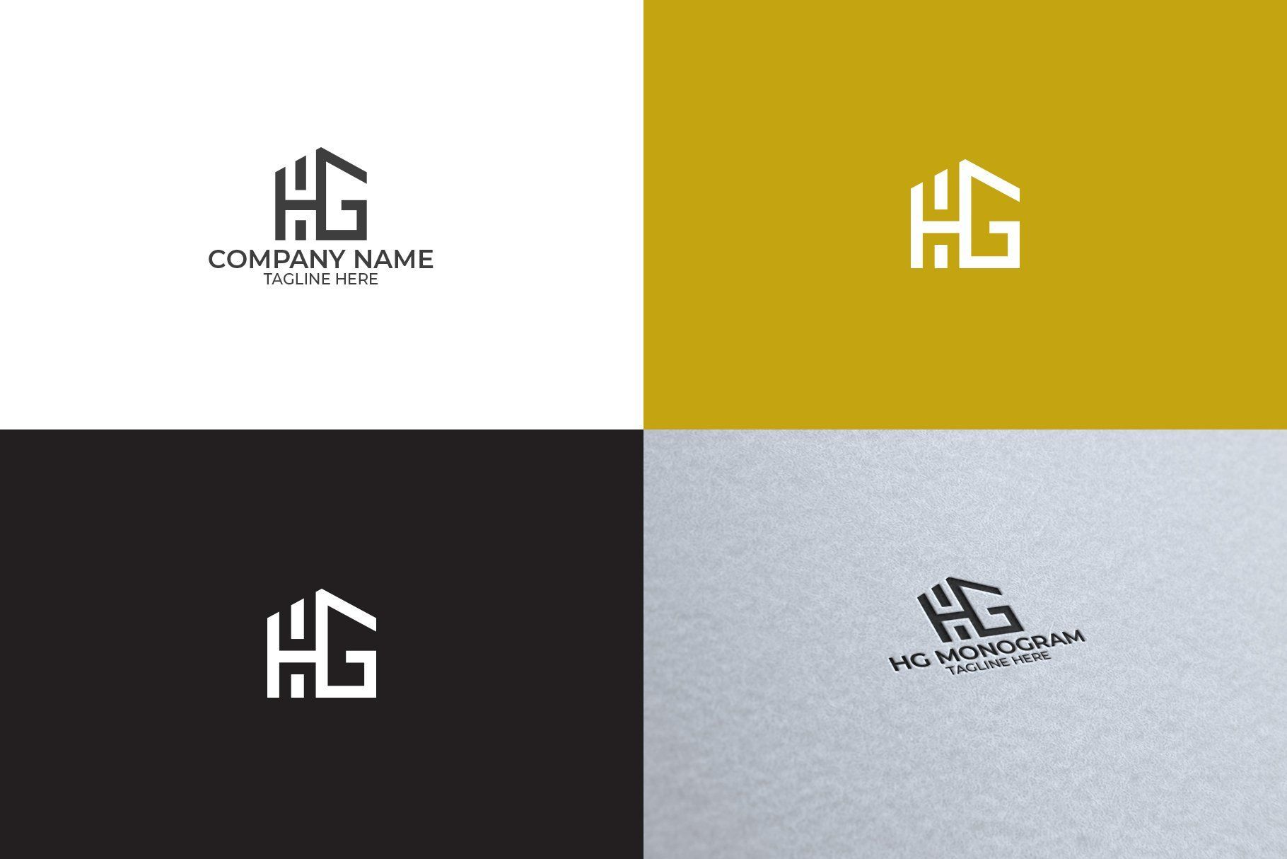 Hg Monogram Logo Monogram Logo Real Estate Logo Design Realtor Logo Design
