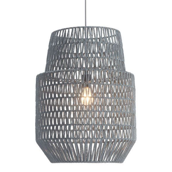 Zuo Daydream Ceiling Lamp Gray – Modish Store - great with Plumen bulbs - available at plumen.com