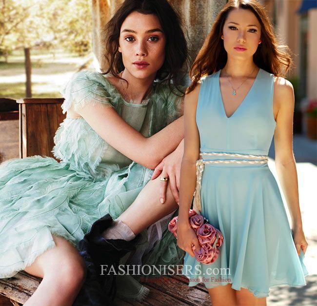 How to Wear The Aquamarine Color Trend  #aquamarine #fashion