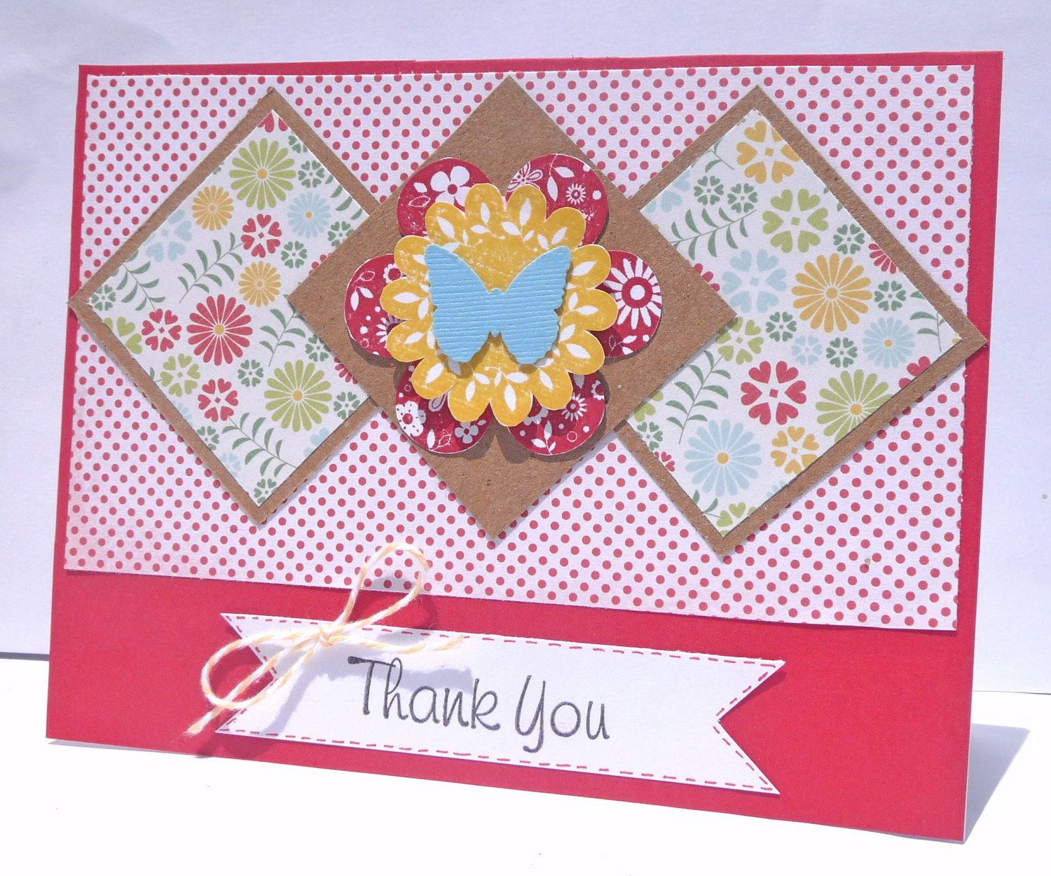 Thank You Floral Handmade Greeting Cards Thank You 2