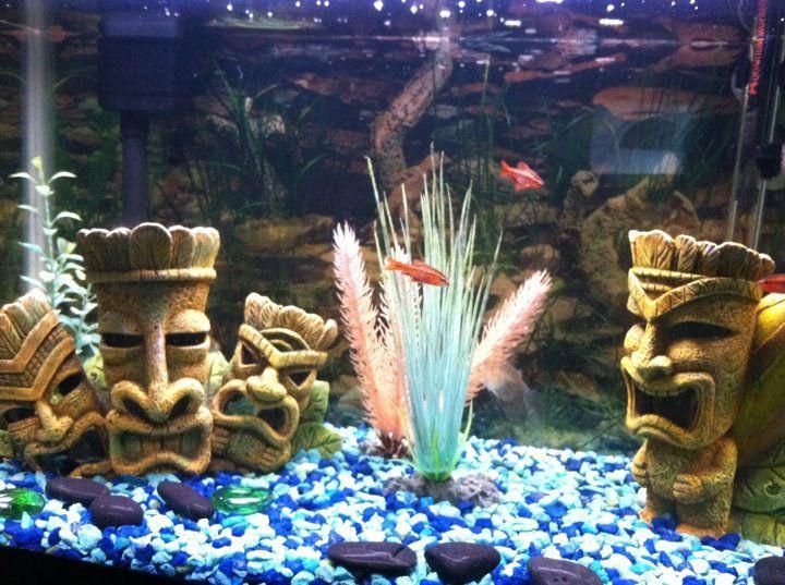 A Friend S Tiki Themed Aquarium Tiki Tiki Statues Vintage Tiki