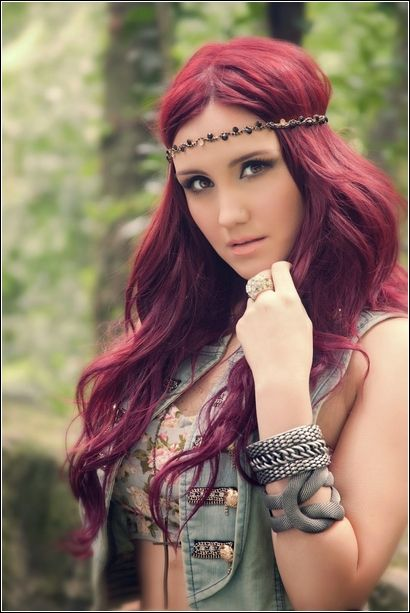 Red Violet Hair Bing Images Fashion And Hair Beleza