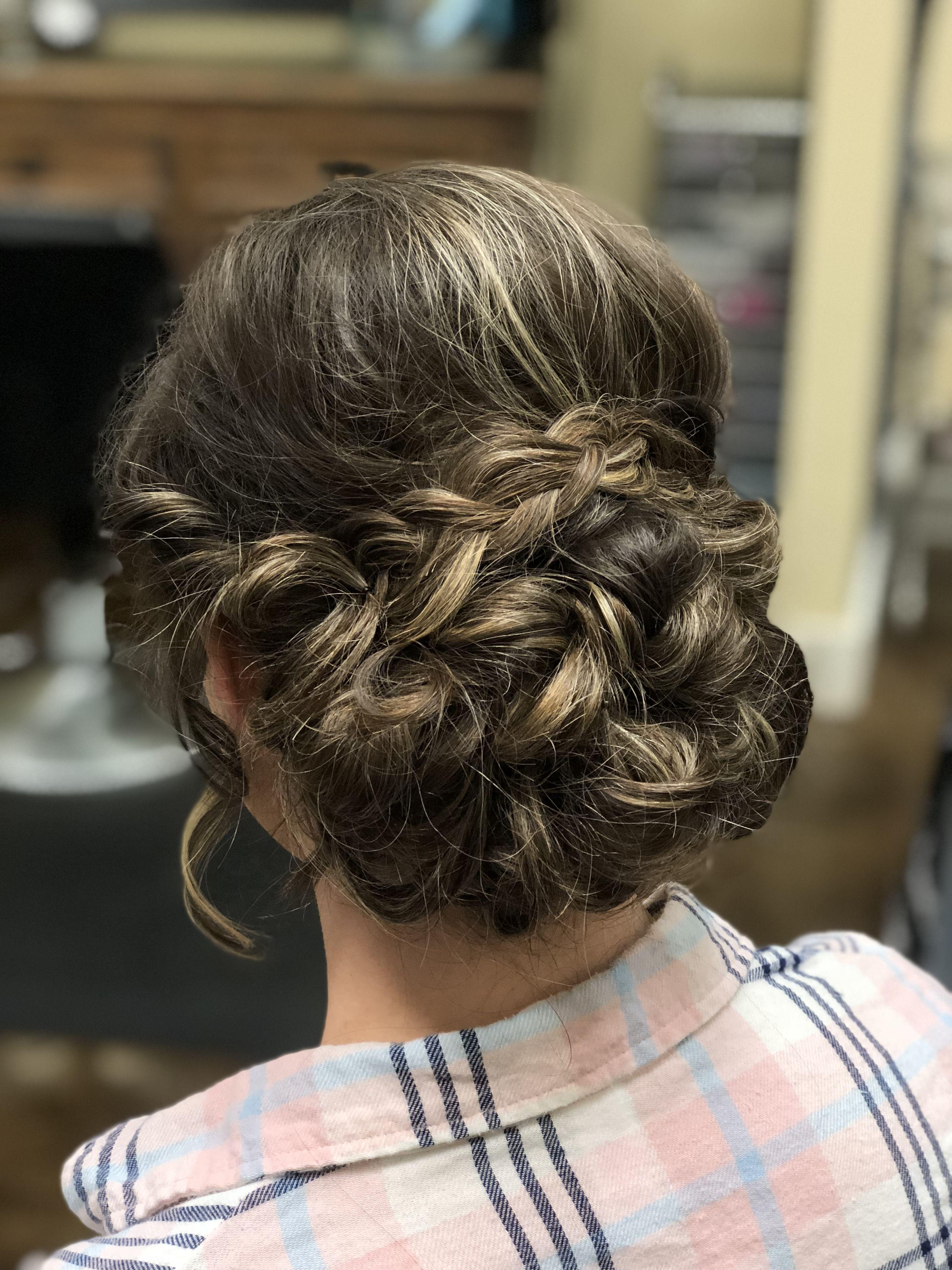 Prom hair inspiration braided updo caroline tedder hair