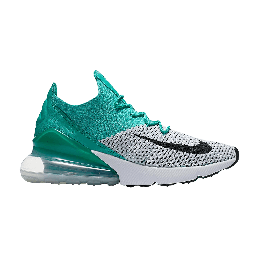 Nike Women's Air Max 270 Flyknit Clear EmeraldBlack White