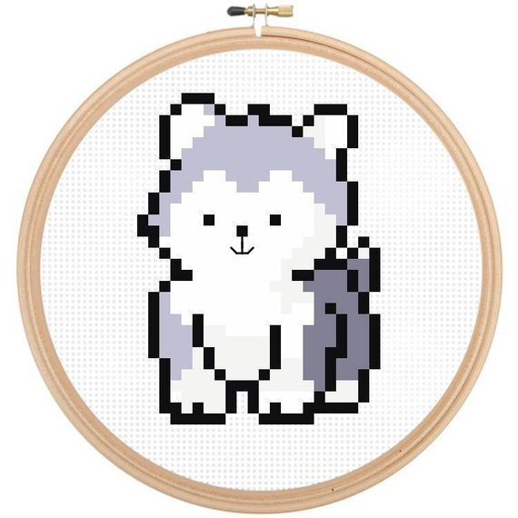 Dog Cross Stitch Pattern, Easy Cross Stitch, Beginners Cross Stitch