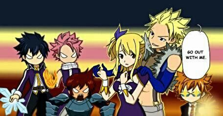 I also ship Gray, Natsu, Dan, Sting and Loki with Lucy