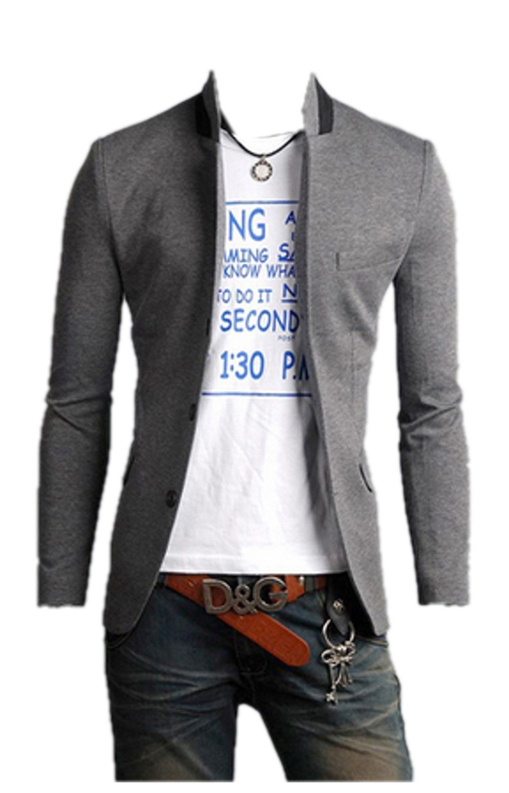 QualityUC Mens American Clothes Fashion Petite Boys Suit Jacket