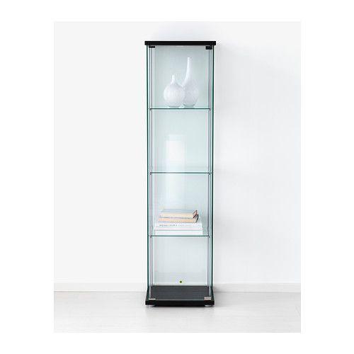 Detolf Glass Door Cabinet Black Brown Ikea House Pinterest