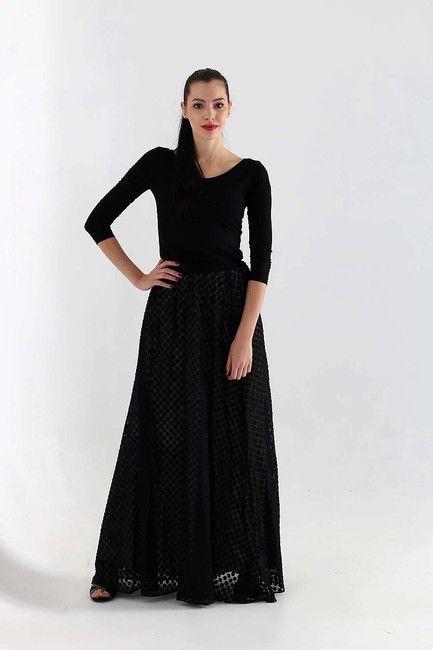 b39b7feedcd8 Dlhá šifónová sukňa čierna   ZuzanaZachar