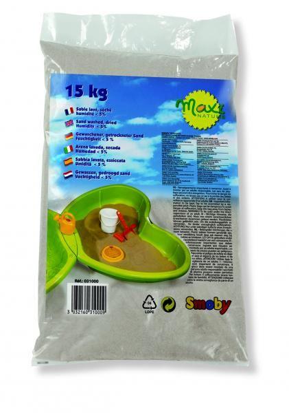Un sac de sable de 15 kg, lavé et séché avec un taux du0027humidité