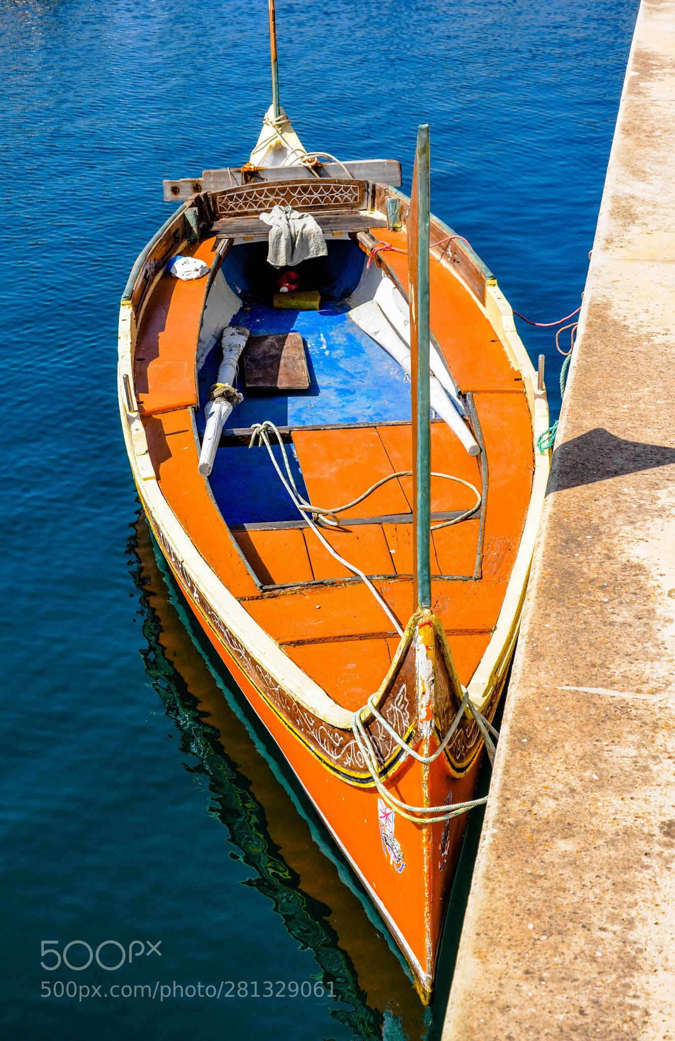 Maltese Luzzu Fishing Boat By Chriswtaylor