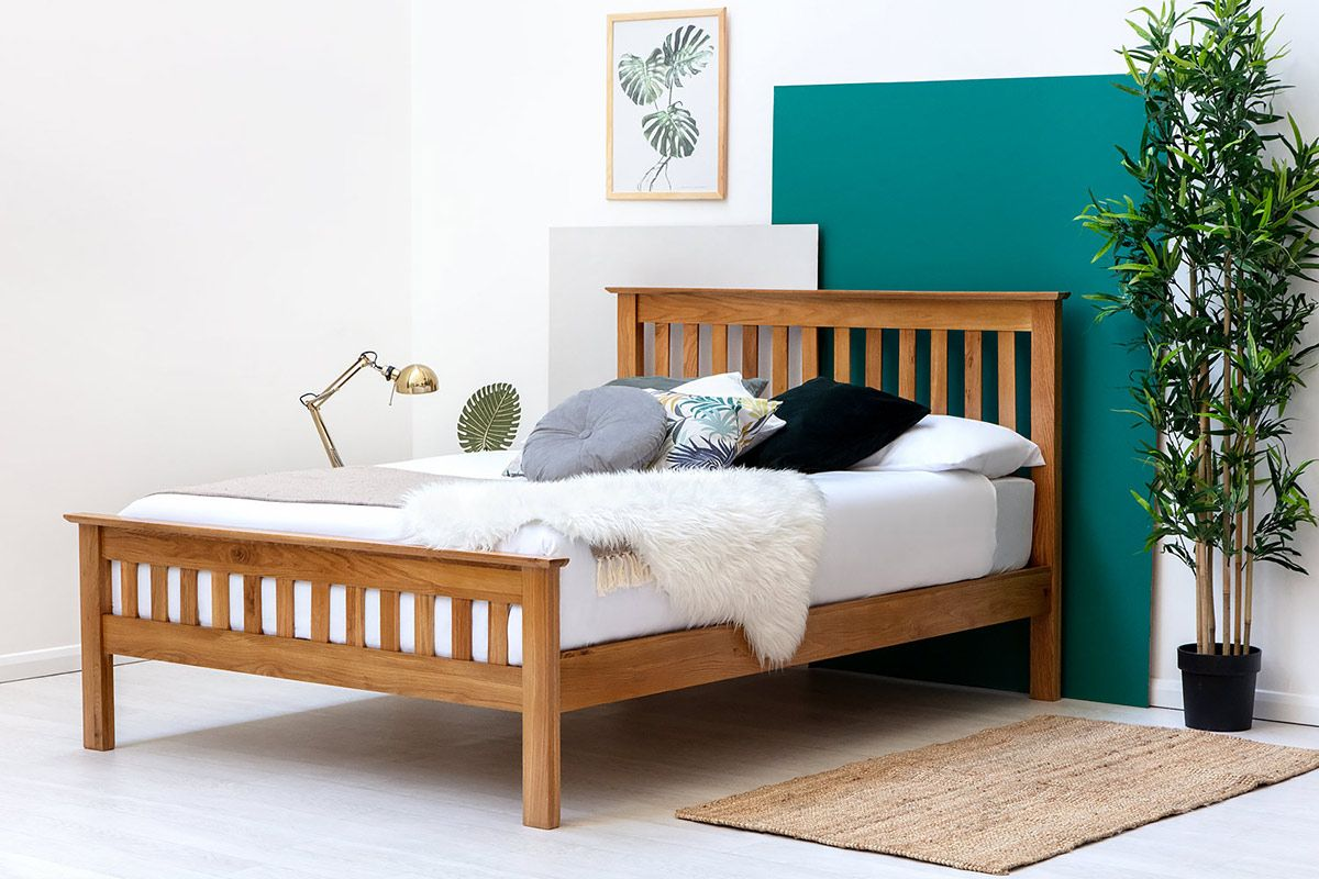 Chelford solid farmhouse oak wooden bed frame double