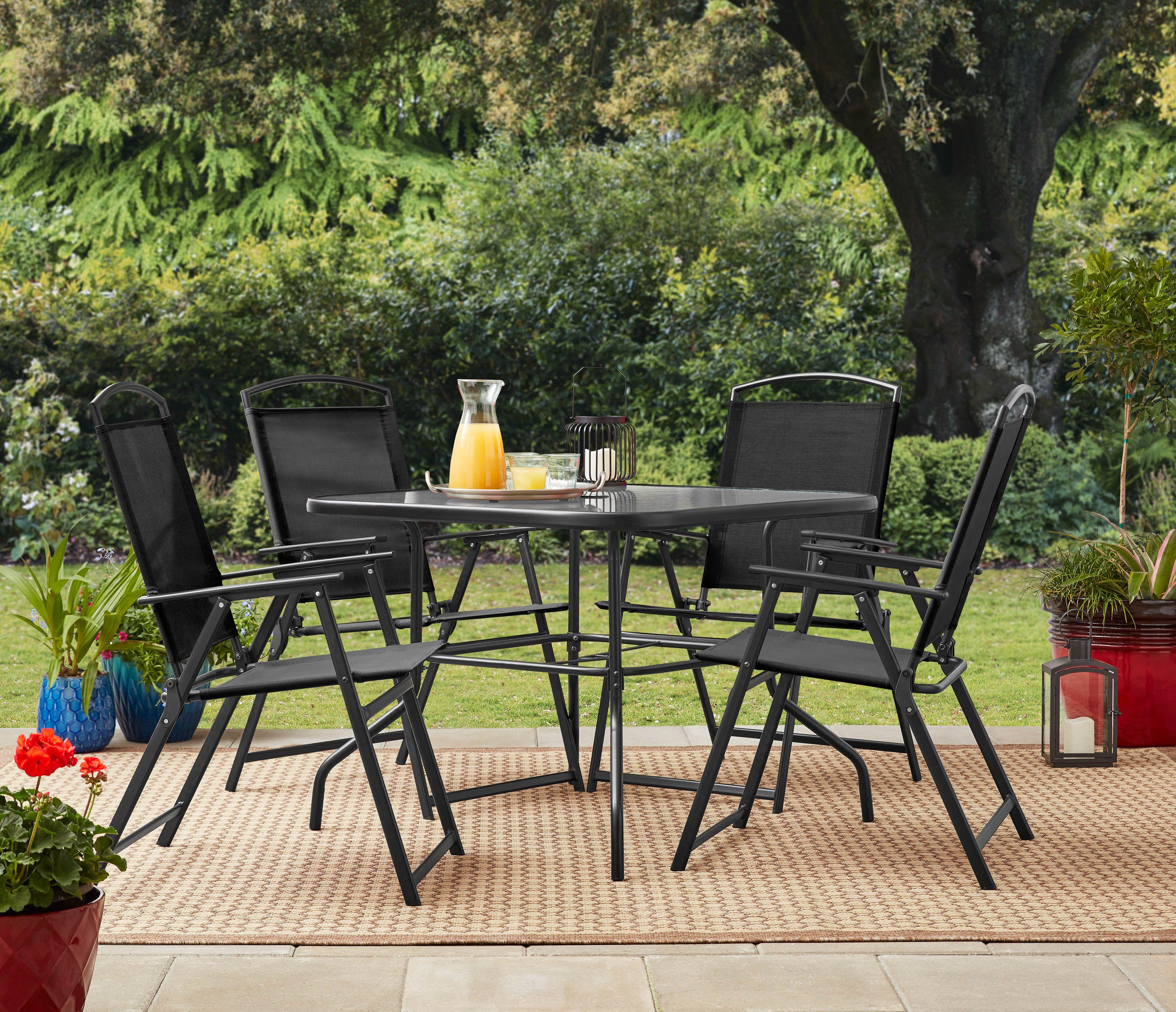 Mainstays Heritage Park Outdoor Patio 5 Piece Dining Set