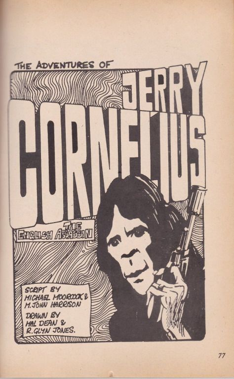 The Title Page Of The Jerry Cornelius Comic Cornelius Comics Science Fiction