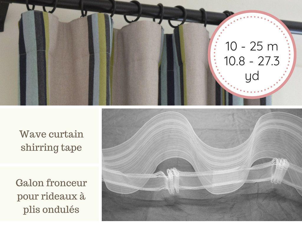 Wave Curtain Shirring Tape For Ripple Fold Drapery 10 25 M