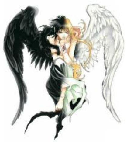 Mon monde mi ange mi demon mi ange mi d mon - Dessin ange demon ...
