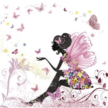 Cuentos Infantiles De Hadas Papel Pintado De Mariposa Ilustración De Flor Dibujos De Hadas