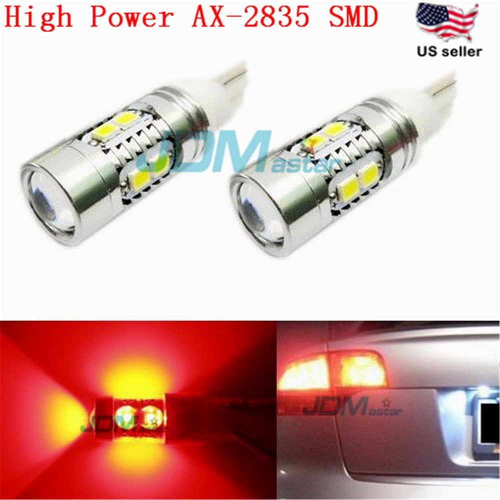 Jdm Astar T10 Wedge Red Ax 2835 Smd 921 912 W5w 12v Led Car Tail Dome Light Bulb Automotive Led Lights Led Bulb Led Replacement Bulbs