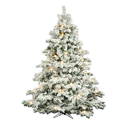 ge 75ft prelit alaskan pine flocked artificial christmas tree with - 75 Ft Slim Christmas Tree