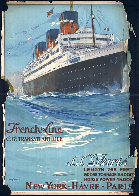 SS Paris - the great days of the grand tour and elegant transport.