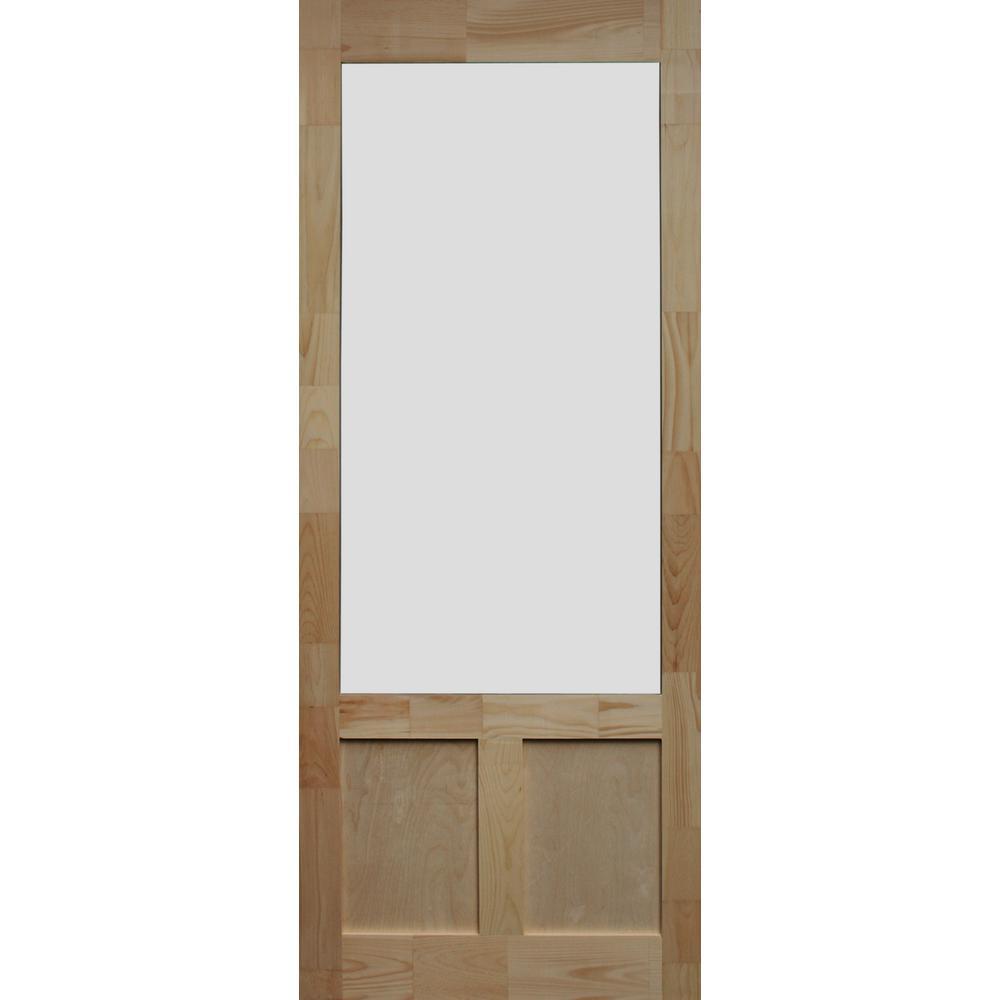 Kimberly Bay 36 In X 80 In Elmwood Natural Pine Screen Door Dsael36 Screen Door Wooden Screen Door Wood Screen Door