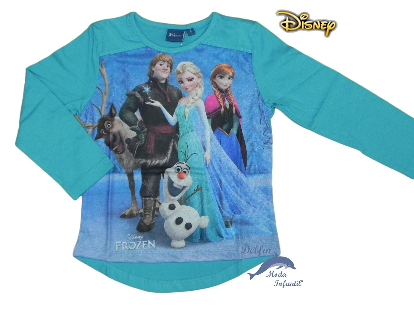 Camiseta FROZEN DISNEY manga larga azul