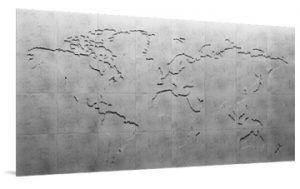 Panele Dekoracyjne Mural 3d Concrete Map Of The World Loft