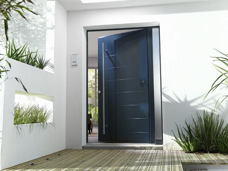 porte dentre maison portes aluminium sur mesure
