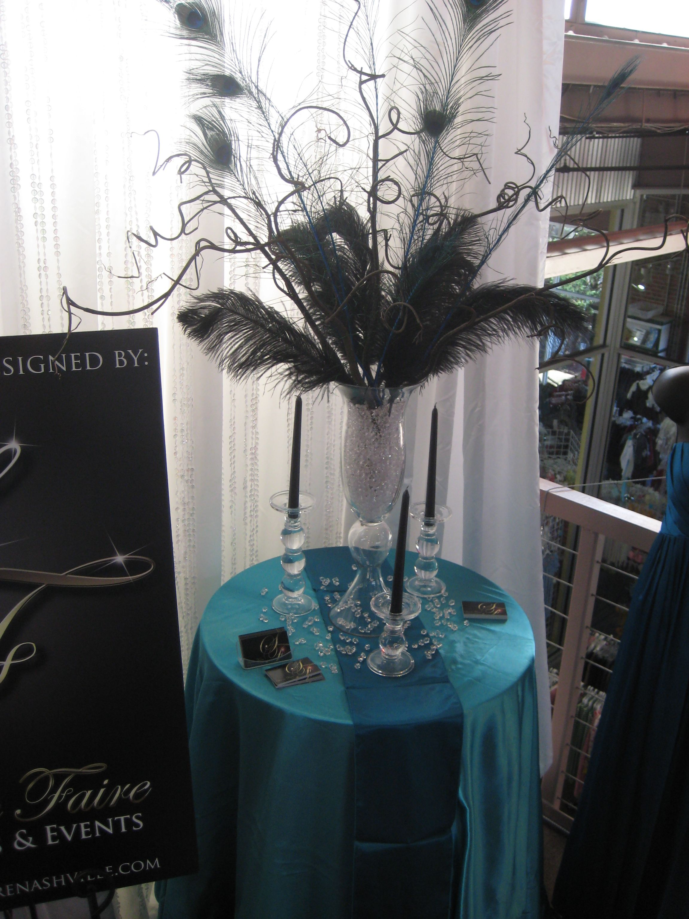 peacock and ostrich feather centerpieces wedding blogs workanyware rh blogs workanyware co uk