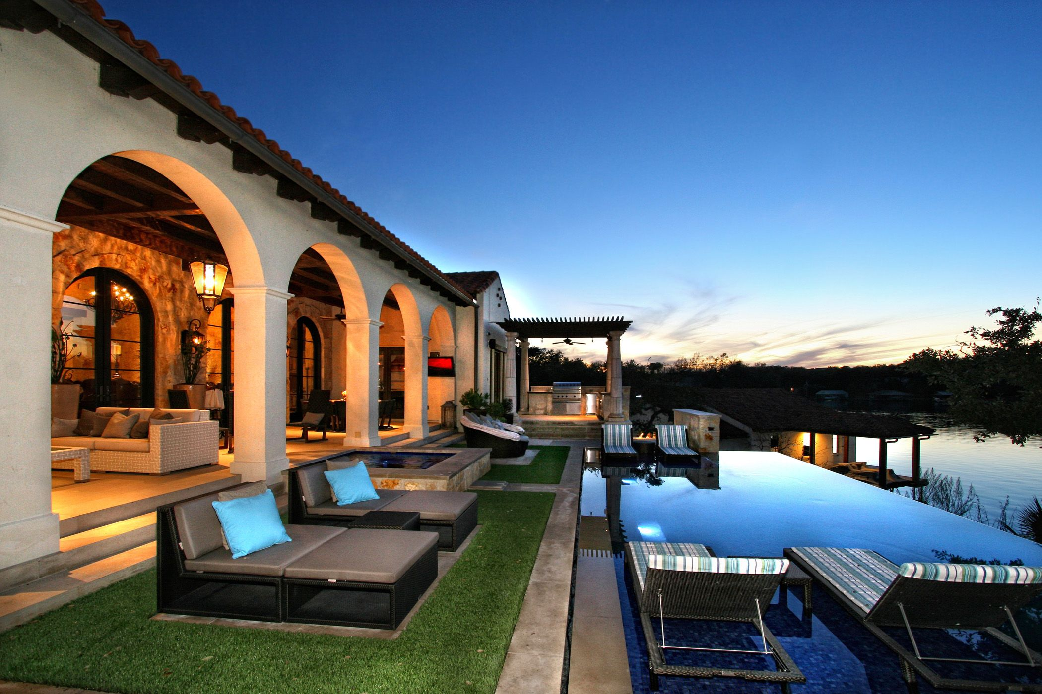 Best Kitchen Gallery: Horseshoe Bay Lakefront Outdoor Living And Pool By Zbranek Holt of Home Builders In Austin on rachelxblog.com