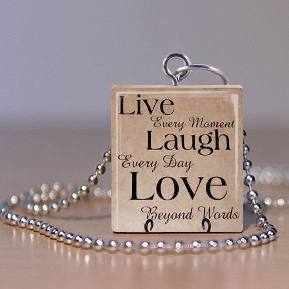 Scrabble Pendant  Jewelry  Live Laugh Love 2 by MaDGreenCreations, $6.95