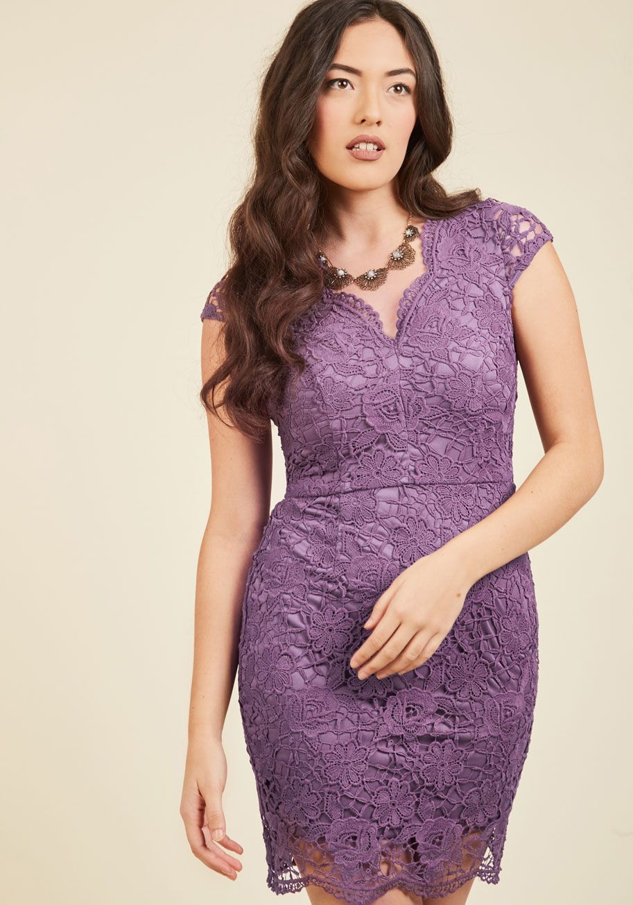Elegant Moments Lace Dress in Lilac, @ModCloth | Modcloth Wedding ...