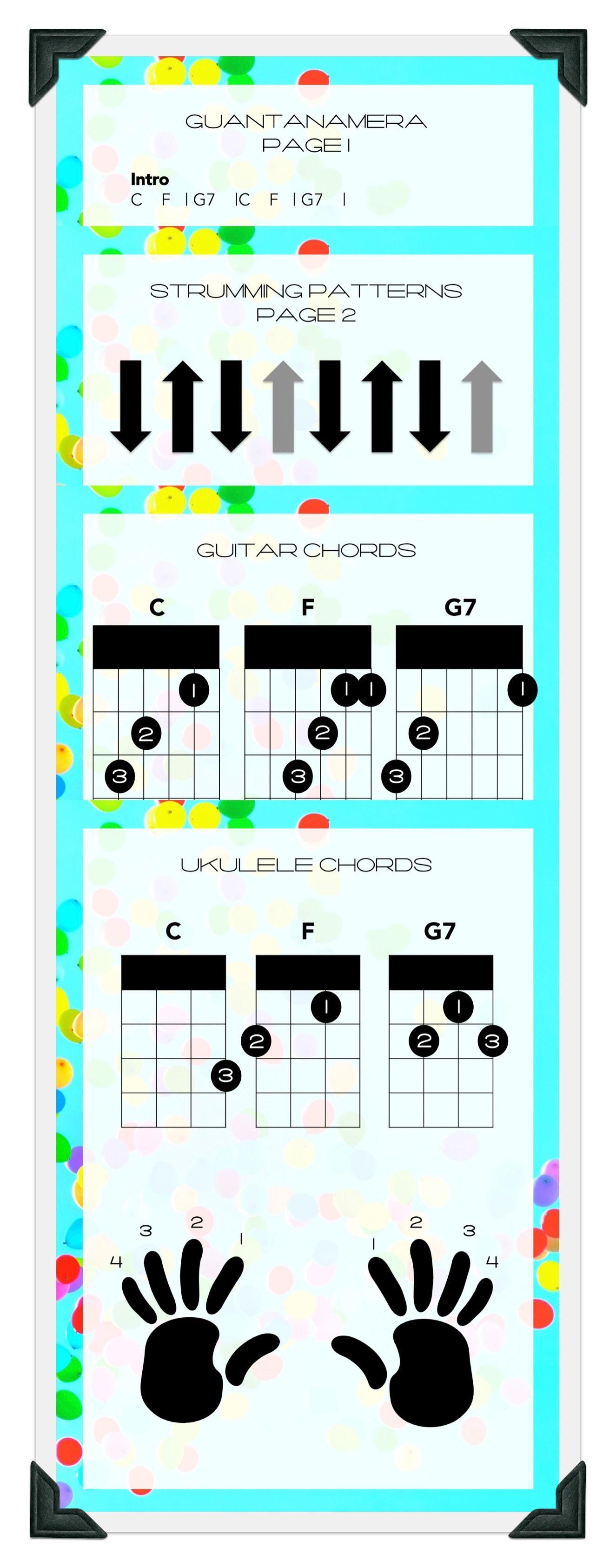 Latin Music Chord Lesson For Ukulele And Guitar Guantanamera La