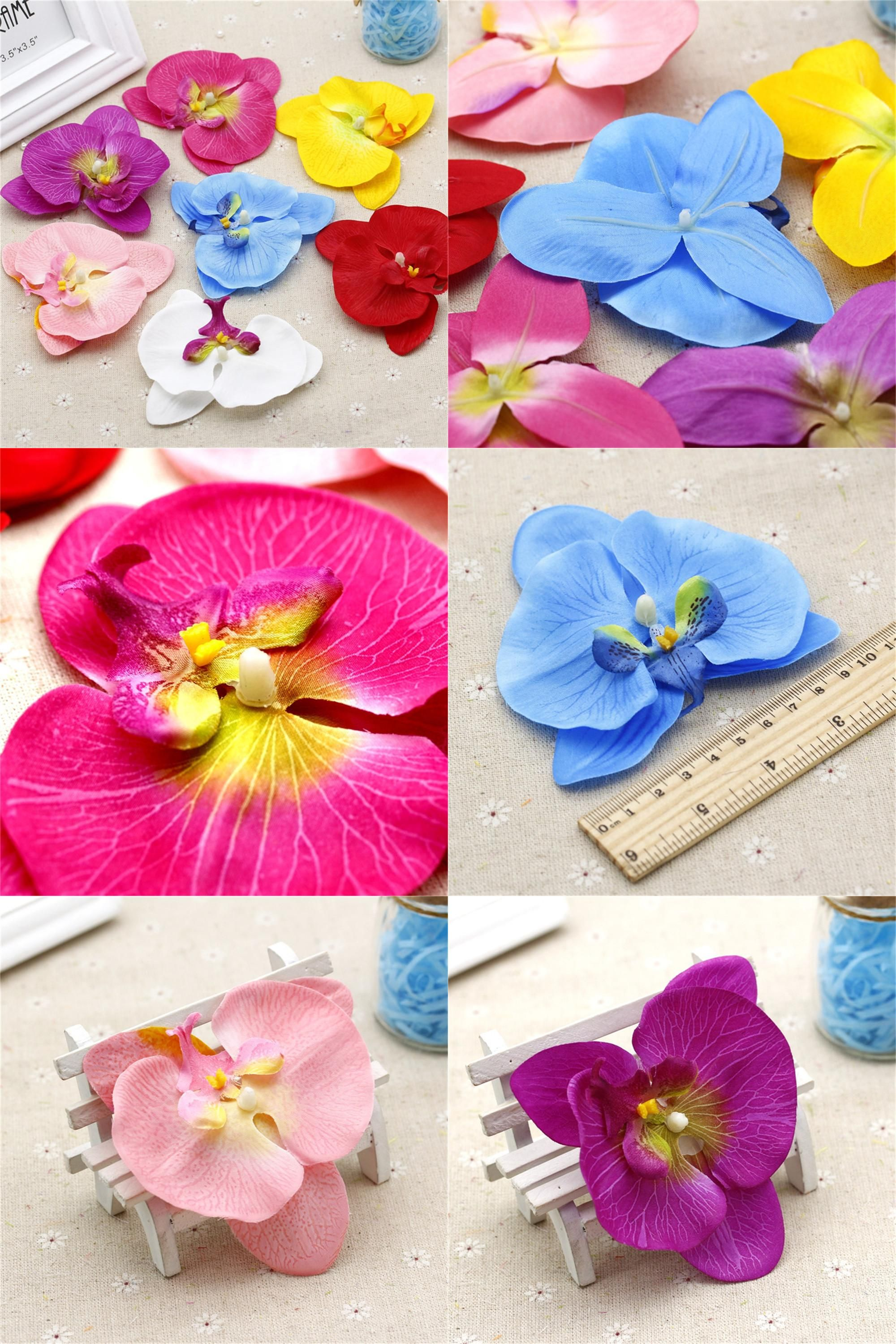 Visit To Buy 2pcslot 10cm Big Silk Artificial Orchid Flower For