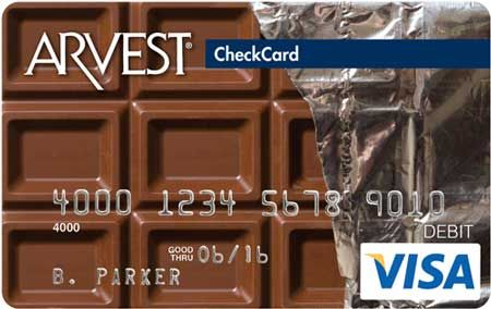 Chocolate Bar - 081 Arvest Debit Card Design  You can order yours