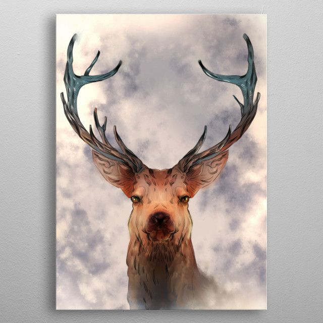 DEER Animals Poster Print | metal posters (With images ...