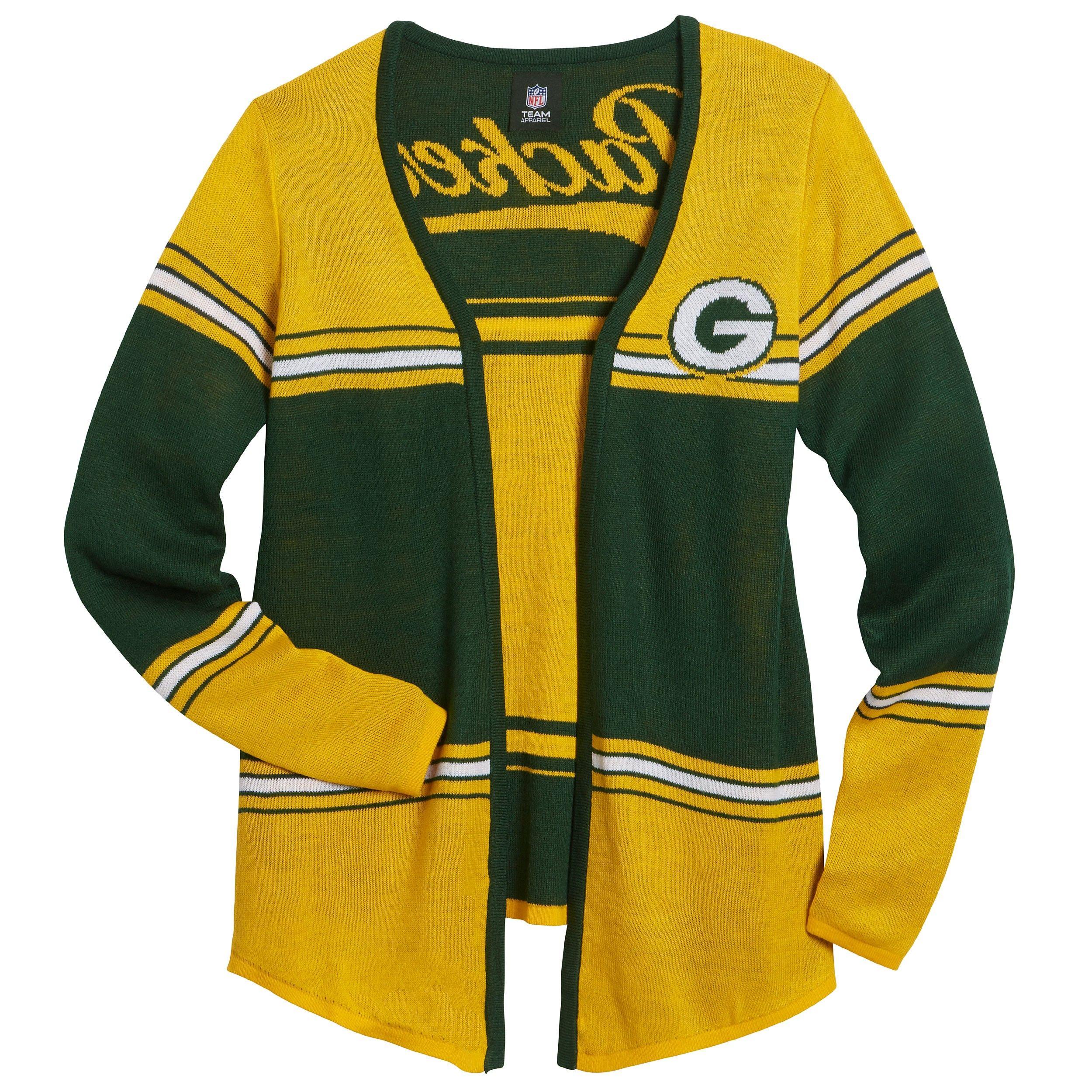 Green Bay Packers Women S Shrug Cardigan Green Bay Packers Clothing Green Bay Packers Crafts Green Bay Packers