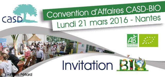 Realisation Dune Invitation Envoyee Par Courrier Pour La Convention Daffaires CASD Du 21 Mars