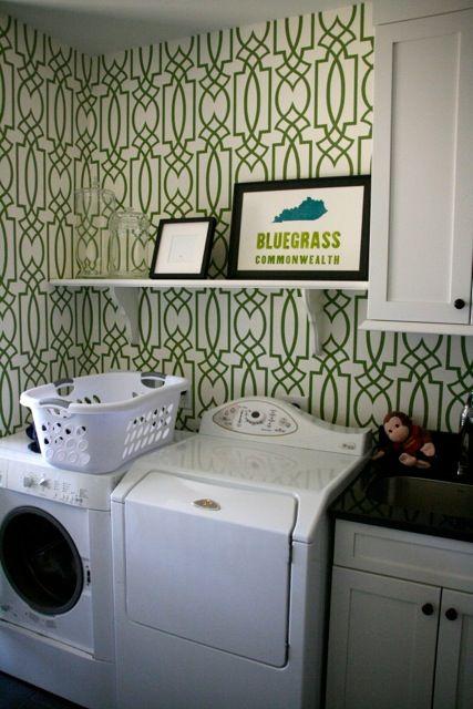 Bluegrass Kentucky Letterpress Print Laundry Room Decor
