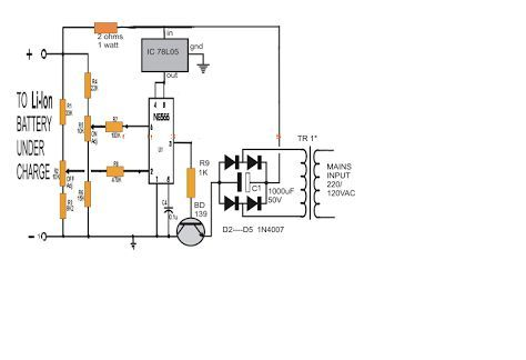 Li-Ion Battery Charger Circuit Using IC 555