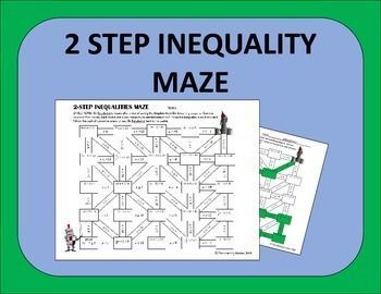 Two Step Inequalities Maze Activity | Maze, Students and Math