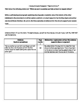 Raymonds run writing activity pinterest text evidence raymonds run use this literary analysis paragraph lesson to get your students to start writing analytically and cite specific text evidence ccuart Images