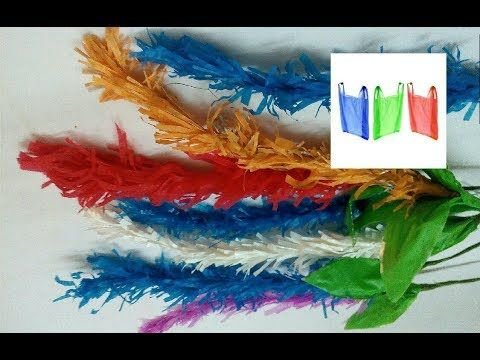 Reuse Idea With Plastic Carry Bags Flower Bunches Making Best