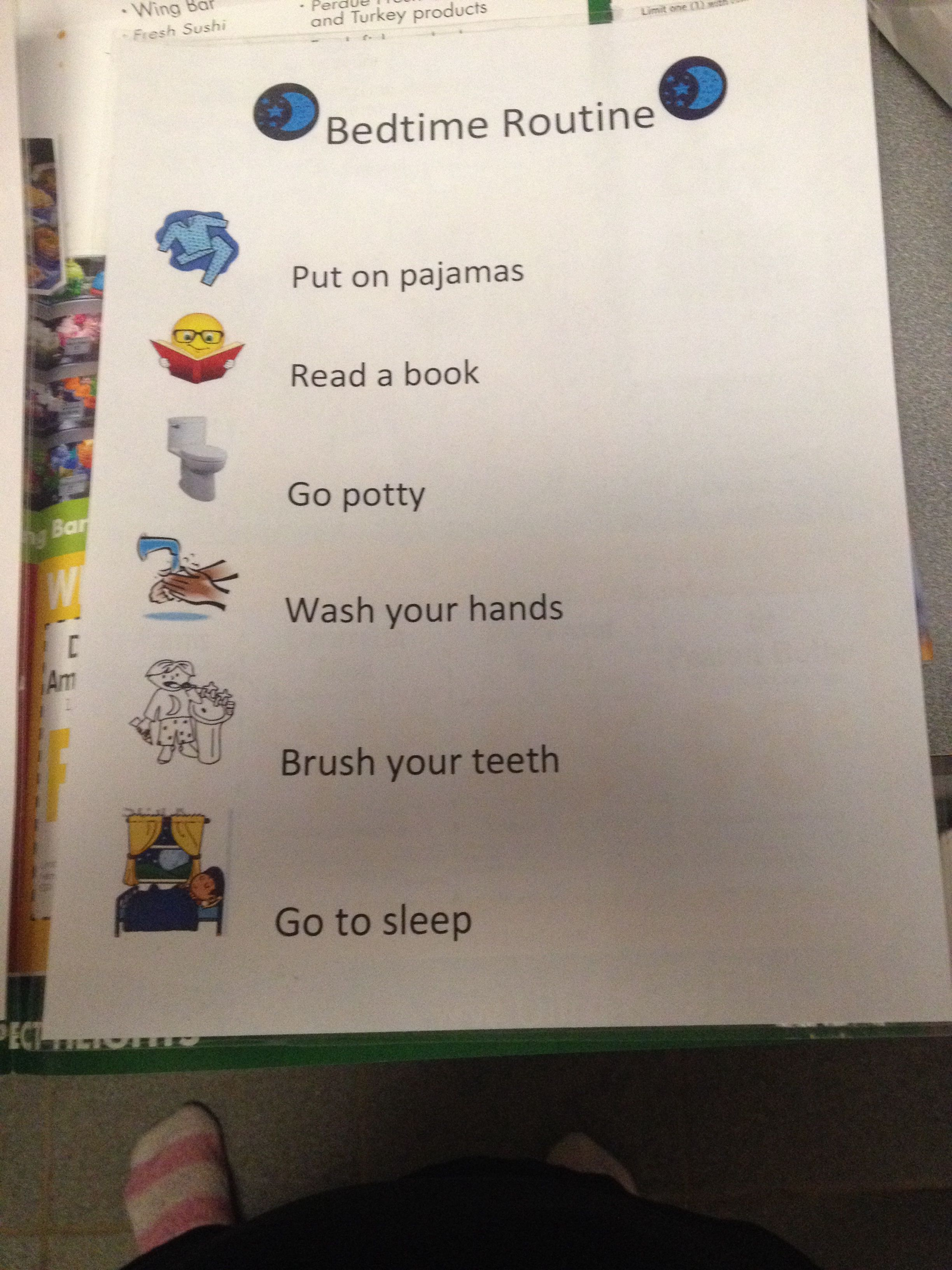 A Routine Chart With Pictures Really Helped My Son Get